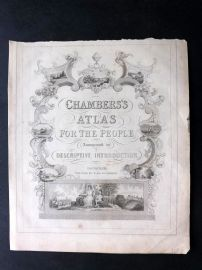 Chambers 1846 Chambers's Atlas for the People Title Page